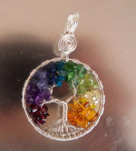 Tree of life with gemstones