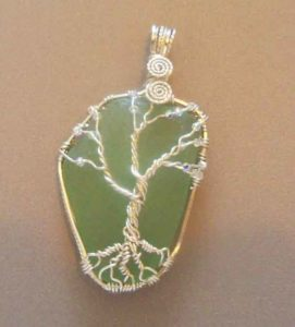 Tree of Life on Sea GLass