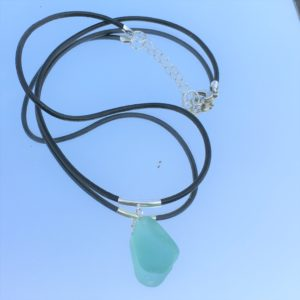 Mermaid Tear Sea Glass Necklace