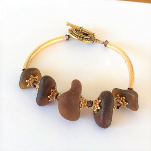 Golden Sea Glass Bracelet