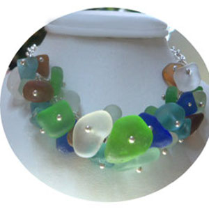 Colors of Sea Glass Necklace
